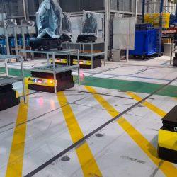 Kivnon AGVs Twister at Faurecia-Factory
